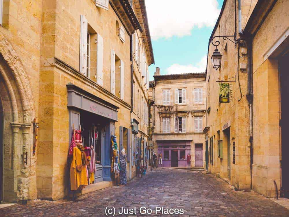 In addition to visiting Saint Emilion wineries, there's fun boutiques and art stores to visit in Saint Emilion village itself