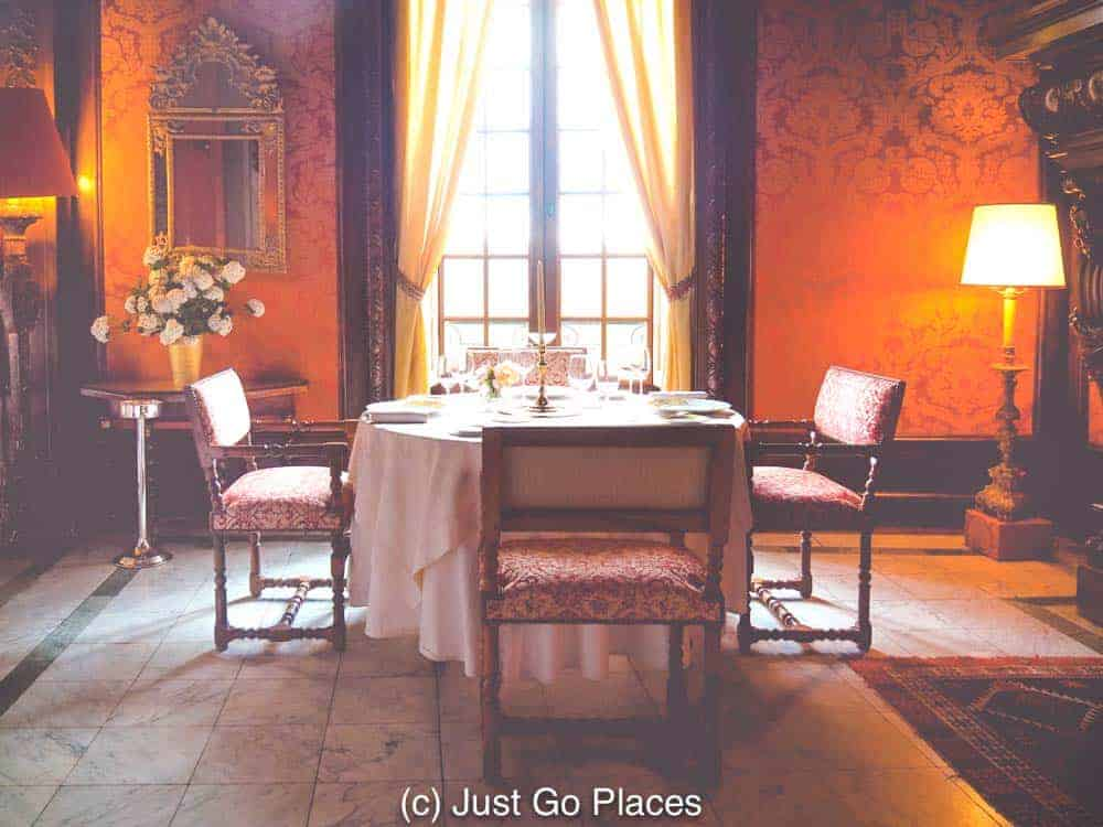 The fabulous room in which the Chateau de la Treyne restaurant is located.