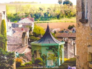 The garden of the Hostellerie de Plaisance Hotels, one of the best hotels in Saint Emilion