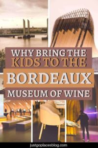 Kids at a wine museum?!? Yes, they'll love it! The Bordeaux Museum of Wine opened in 2016, and it's considered the best wine museum in the world, but it's more. It's an eclectic edutainment-focussed explanation of wine and its culture, that kids (and adults) love. Check out why visiting it is one of the best things to do in Bordeaux, France, and why bring your kids here. #bordeaux #france #wine #museum #winemuseum #kidfriendly