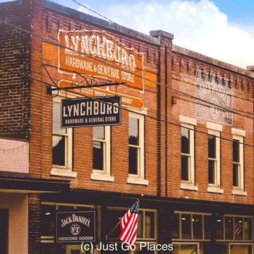 The general store in downtown Lynchburg is where you can buy Jack Daniels merchandise