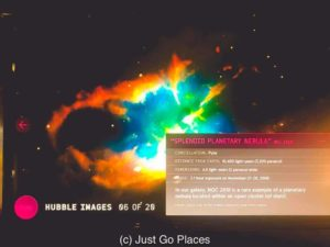 Images from the Hubble Telescope are among the displays to explore at the Cook Museum of Natural Science.