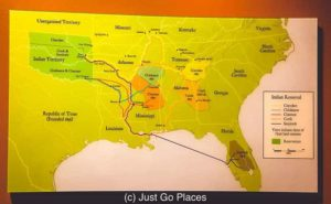 You can see that Decatur was a small but essential part of the Trail of Tears removal of Native Americans from other states to Oklahoma reservations.
