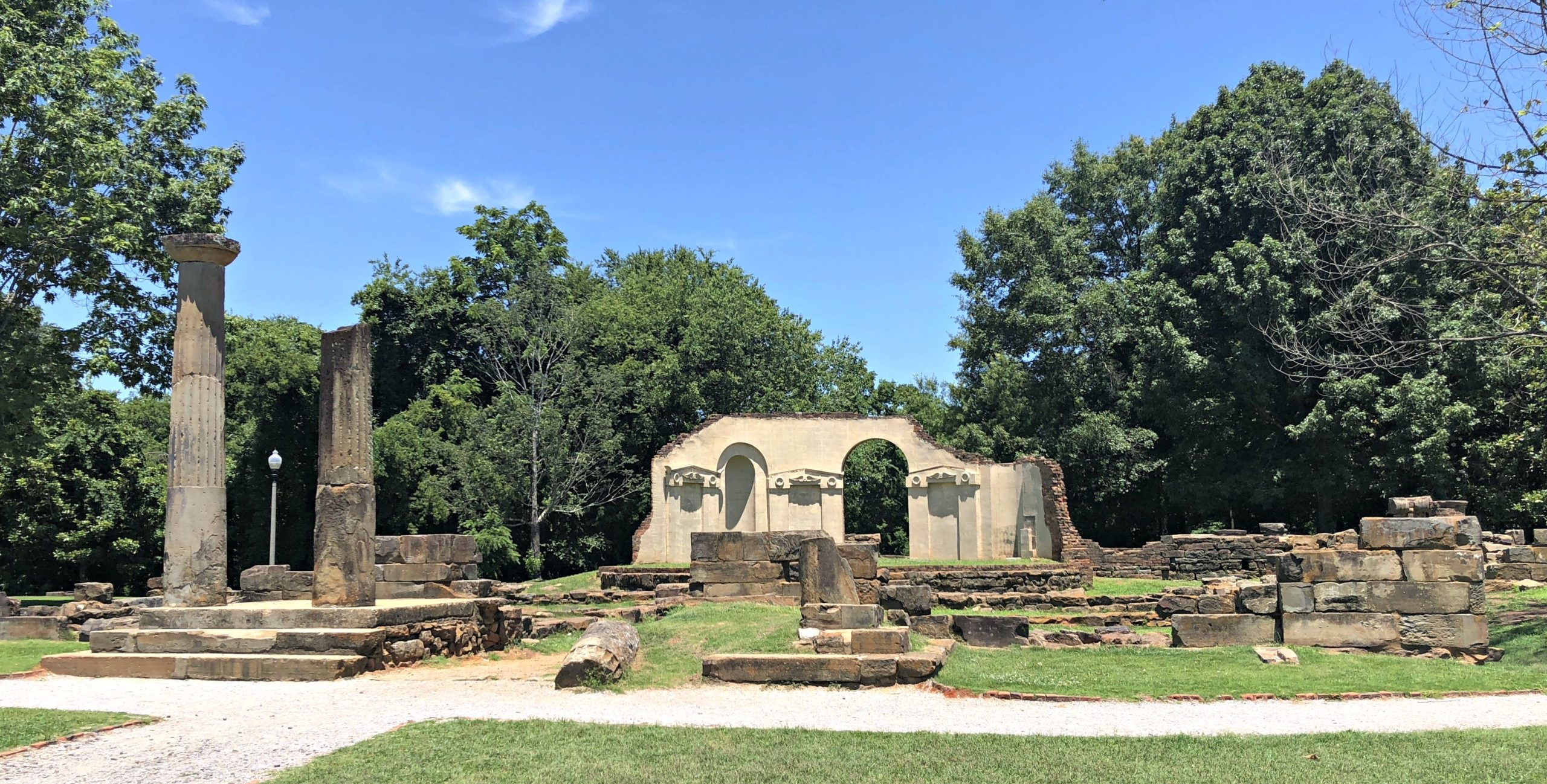 ruins of the old Alabama capitol can be found in Capitol Park Tuscaloosa