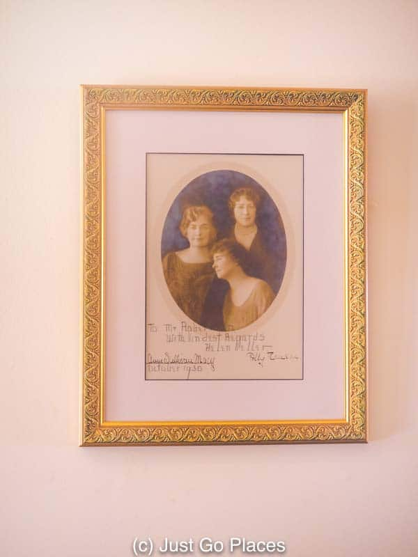 Images of Helen Keller are placed throughout Ivy Green including this portrait of Helen Keller, Anne Sullivan and Polly Thomson, Helen's secretary.