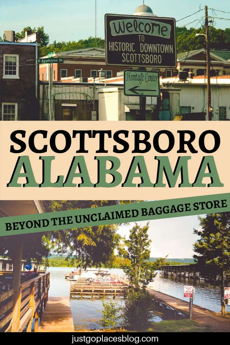 Scottsboro Alabama beyond the unclaimed baggage store