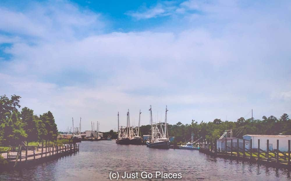 Bayou Le Batre is famous for building ships and its fishing trade.