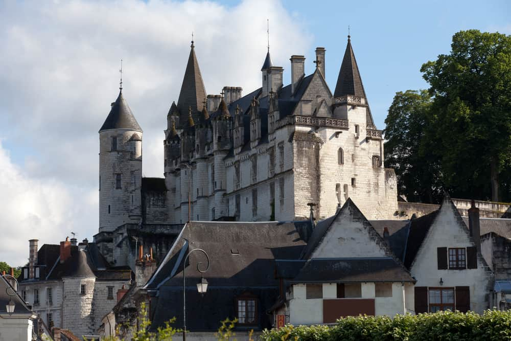 Château de Loches towers over the town of Loches