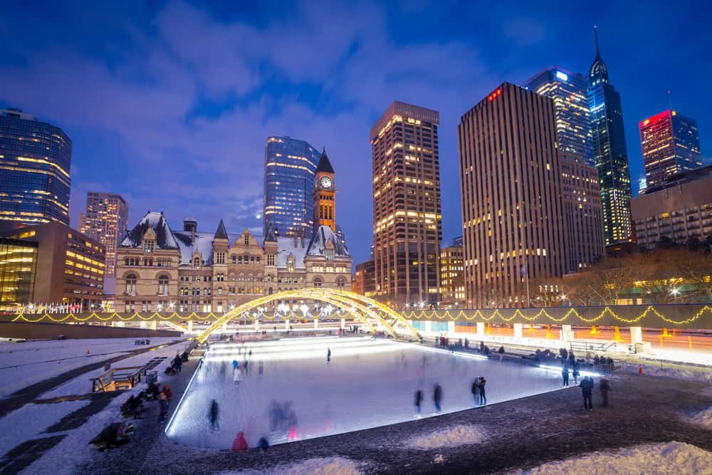 At Nathan Phillips Square in Toronto, Canada