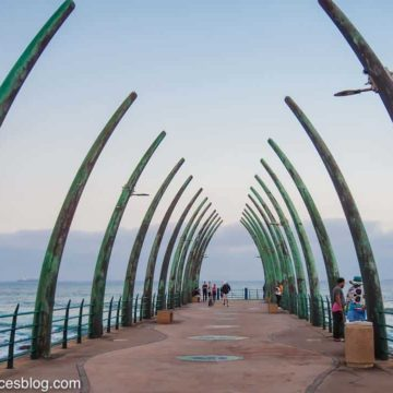 Umhlanga Pier is shaped like a whale's ribcage