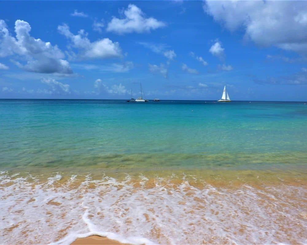 Barbados water and beach