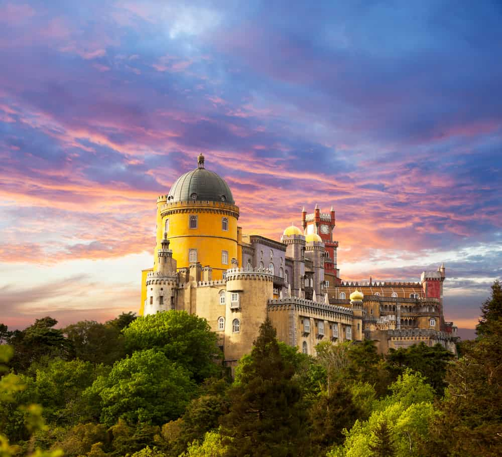 the Pena National Palace in Sintra Portugal