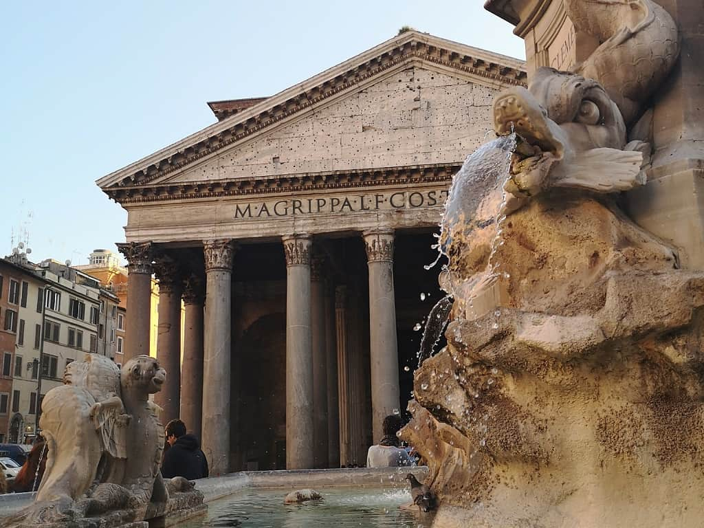 The Pantheon and Rome in February