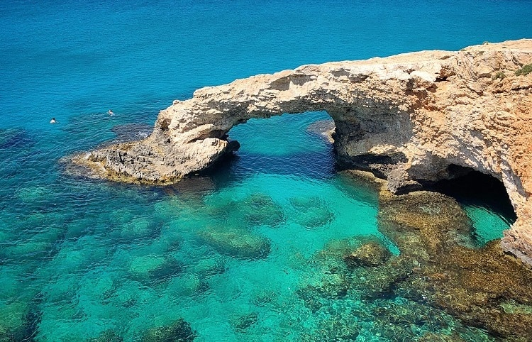 Natural Bridge of Love in Cyprus