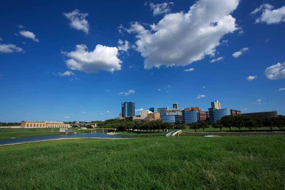 Downtown Fort Worth and the Trinity River
