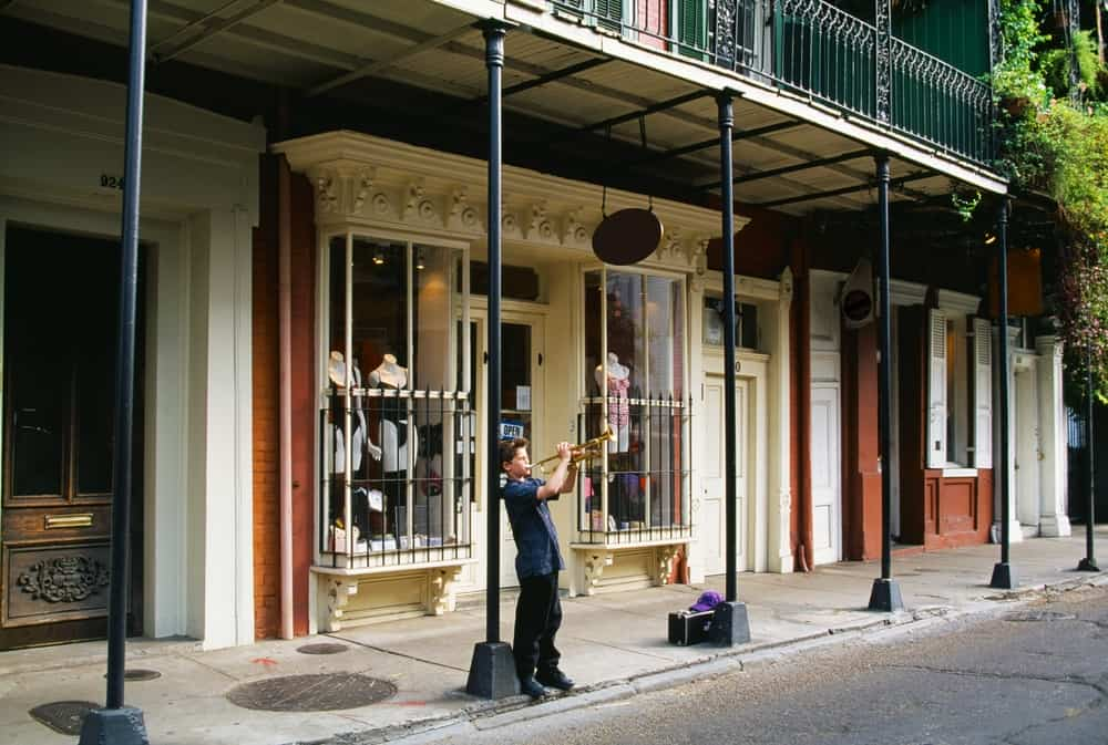 street musician in French Quarter New Orleans