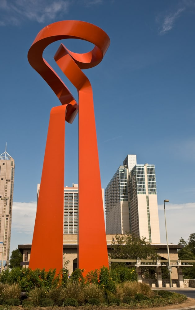 The Torch of Friendship statue in San Antonio Texas