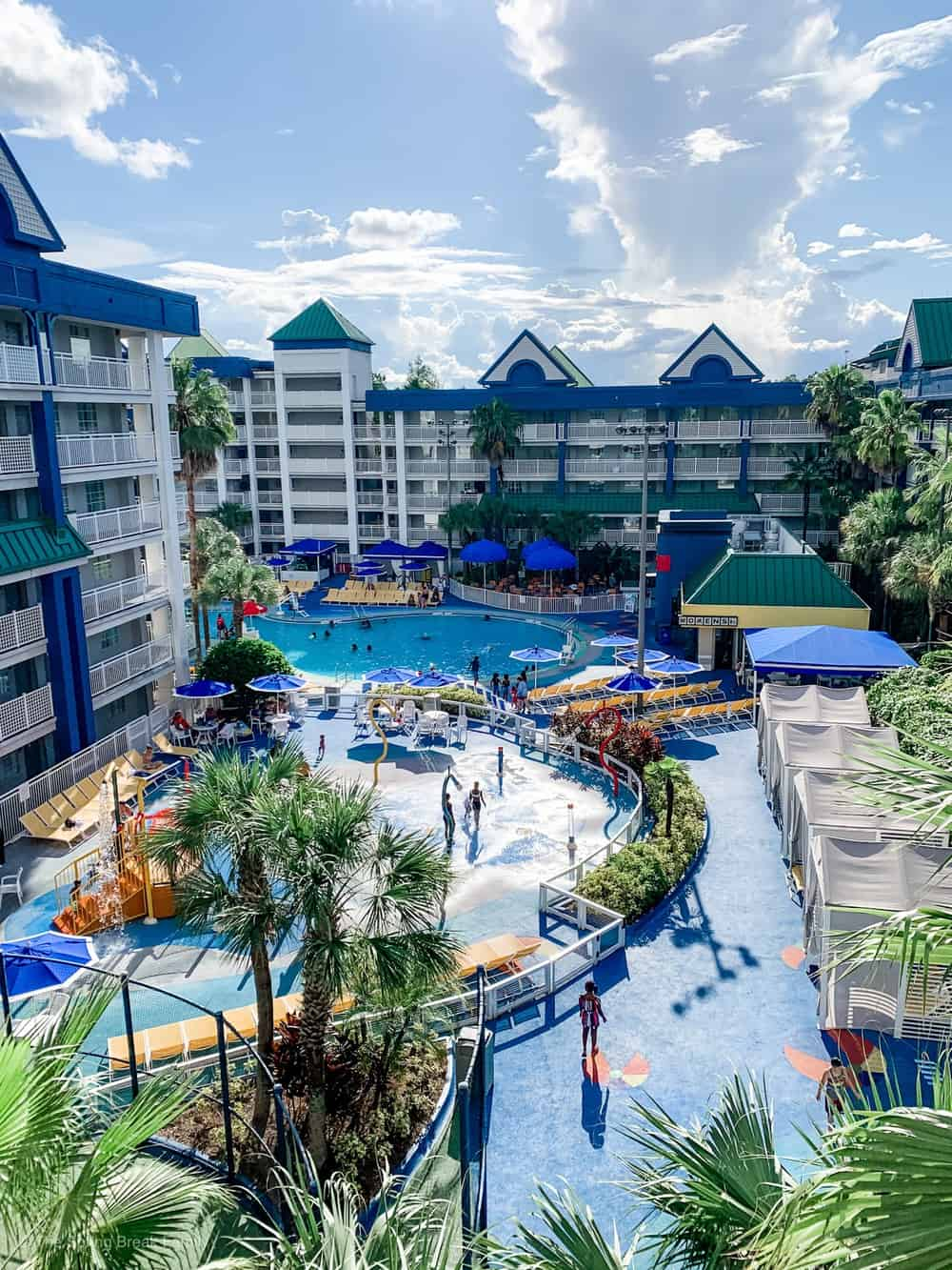 the pools at the Holiday Inn Resort Orlando Suites