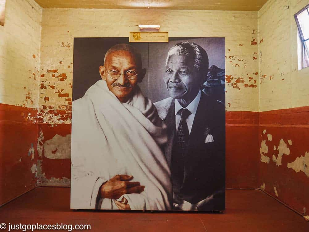 a photo of Nelson and Mandela