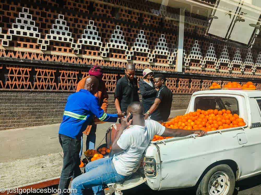 an orange seller