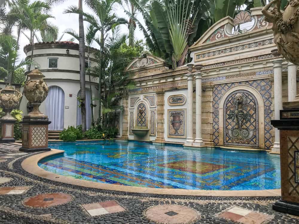 the mosaics surrounding of the Versace Mansion Hotel in Miami Florida