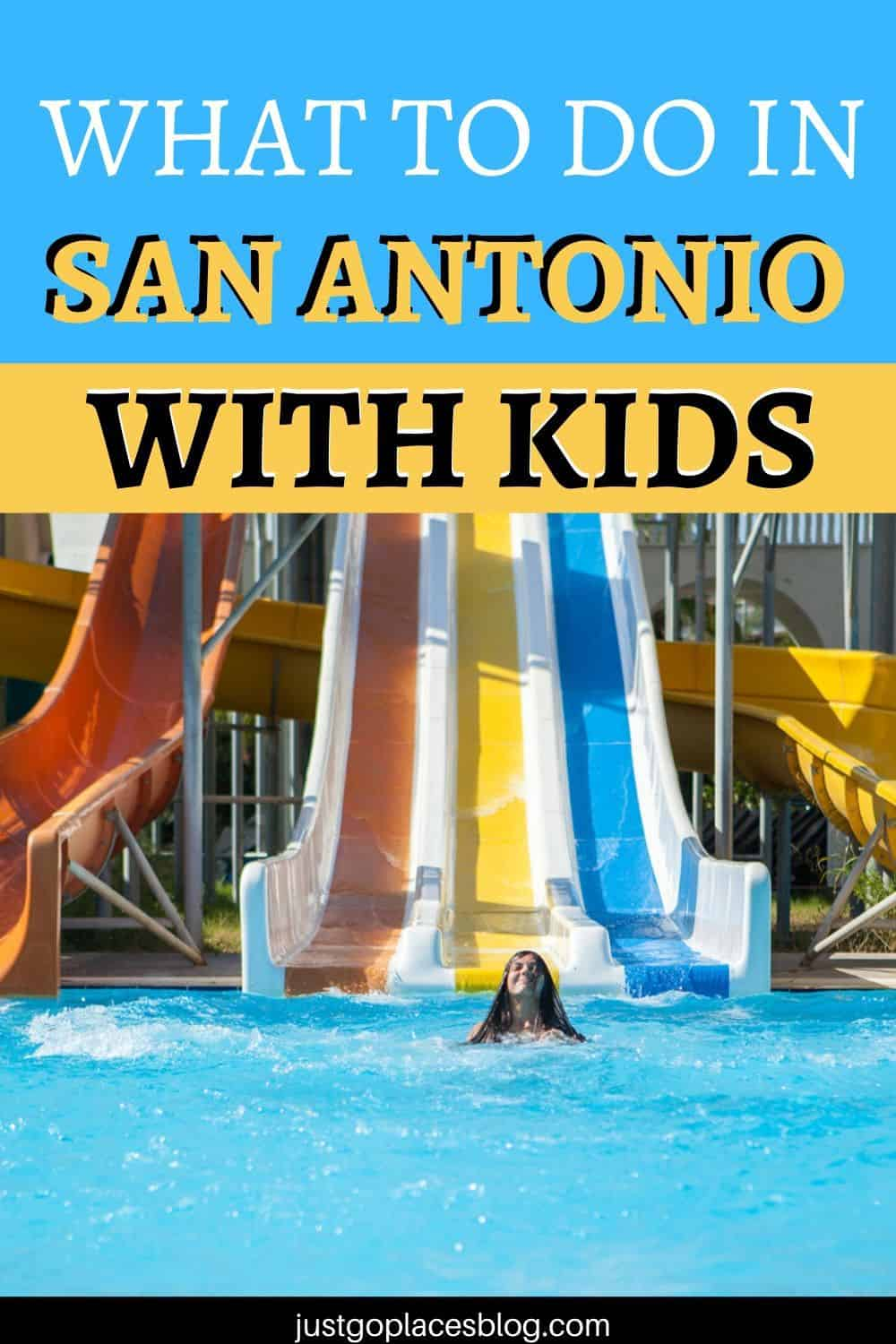 San Antonio TX attractions for kids water slide
