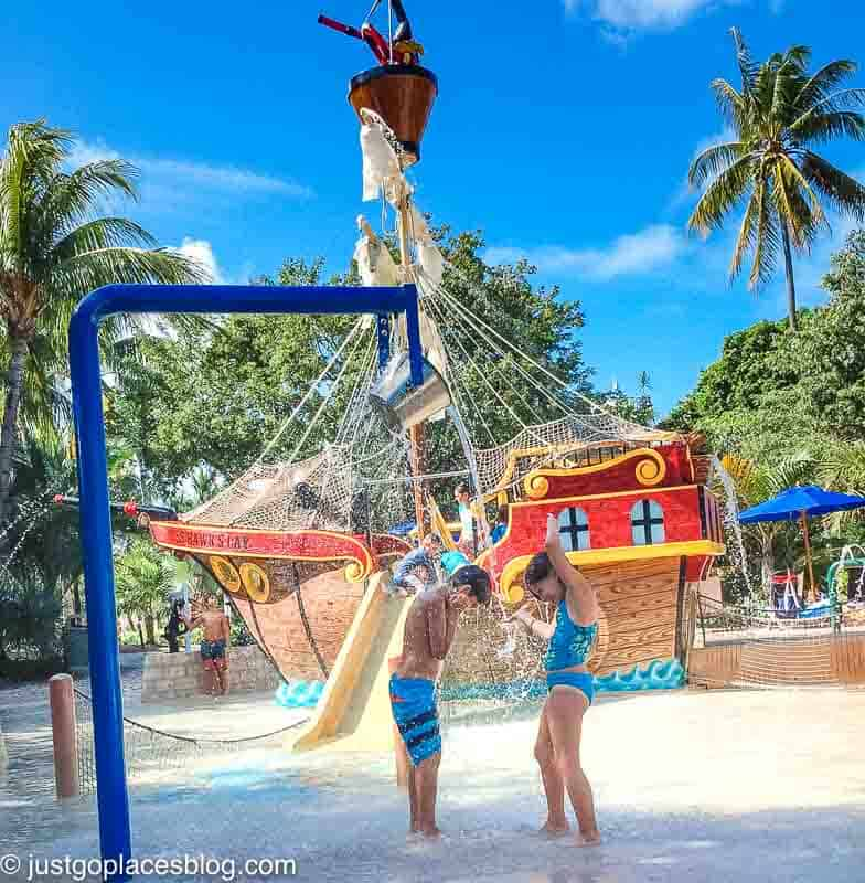 pirate ship pool area at Hawks Cay