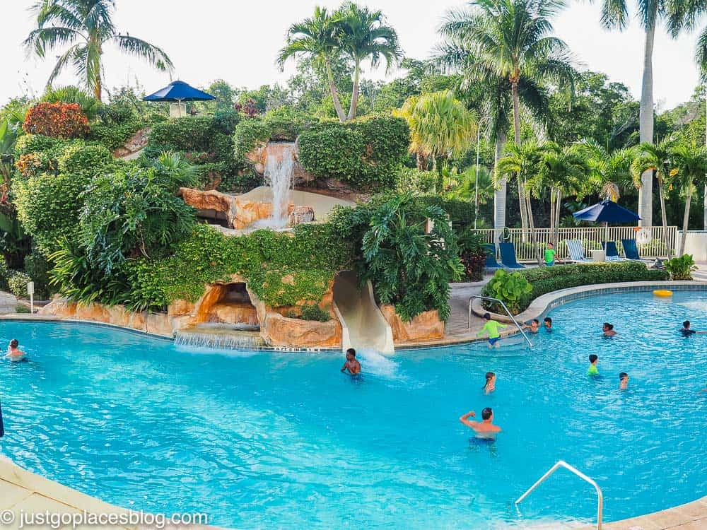 The Naples Grande family pool and waterslide