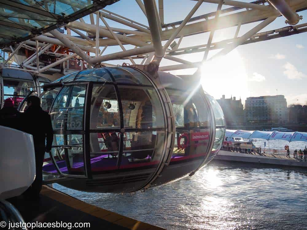 boarding a London Eye flight