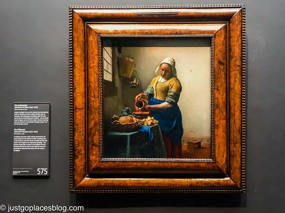 Vermeer painting at Rijksmuseum gallery of honor