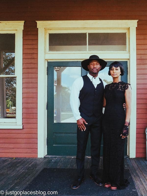 African American couple in the wild west