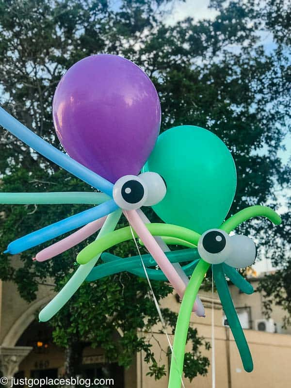 Halloween Naples Florida with octopus balloons