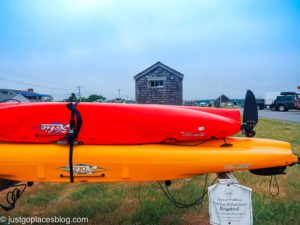 Kayaks at Wellfleet harbor