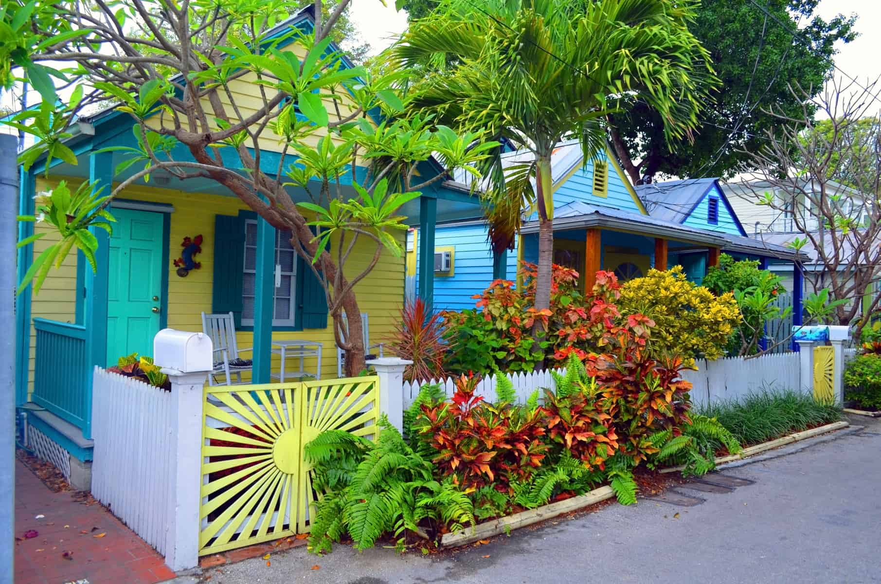 colorful cottages in Key West Florida
