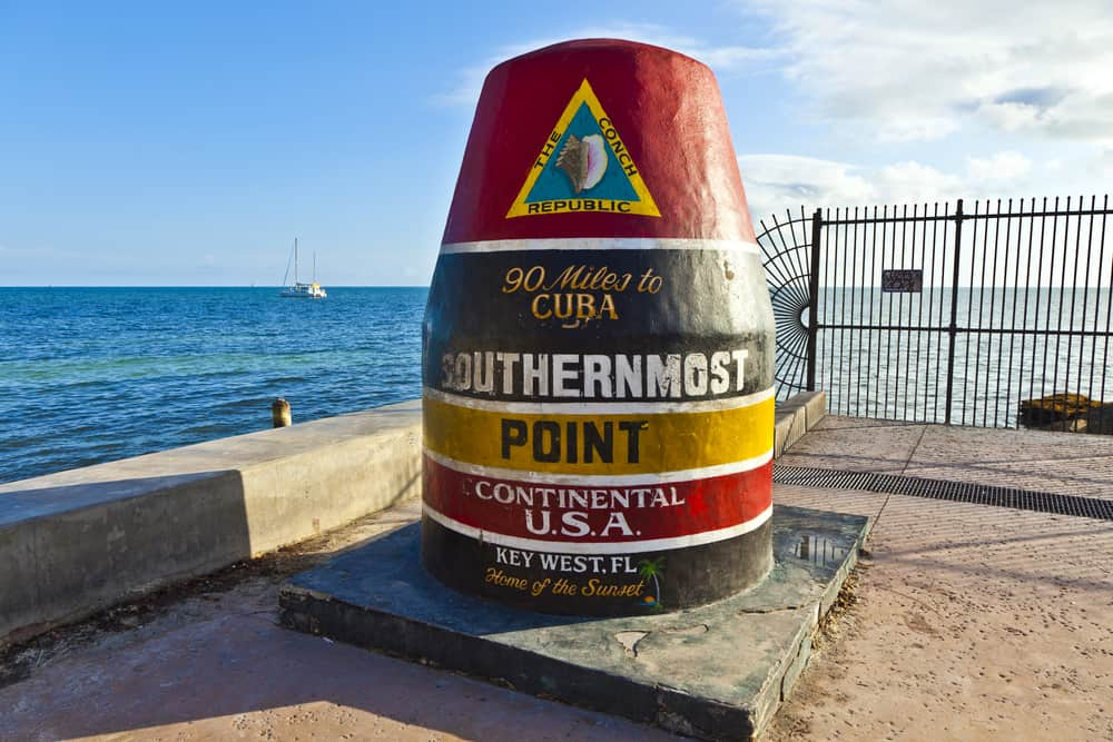 Southernmost Point marker, Key West, Florida, USA