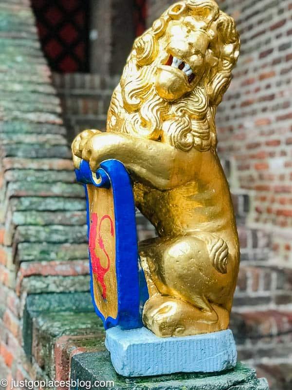 LIon emblem at Muiderslot Castle Netherlands
