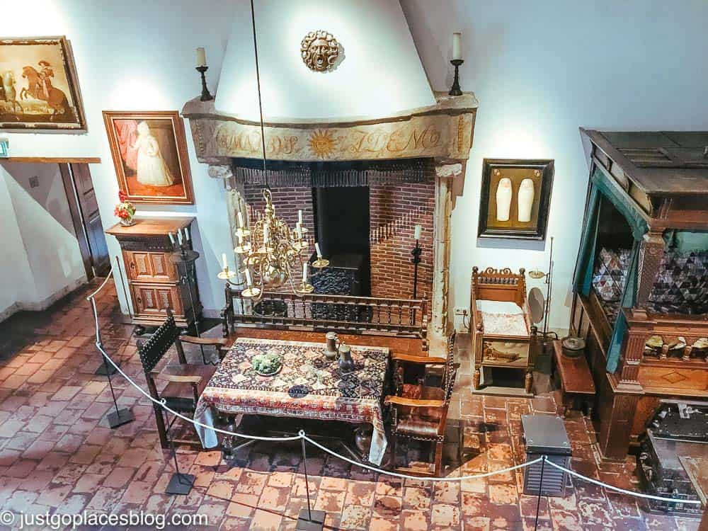 Muiderslot Castle furnished with 19th century items