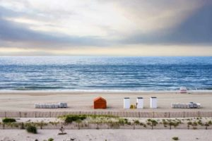 wide sand beach at Cape May in New Jersey