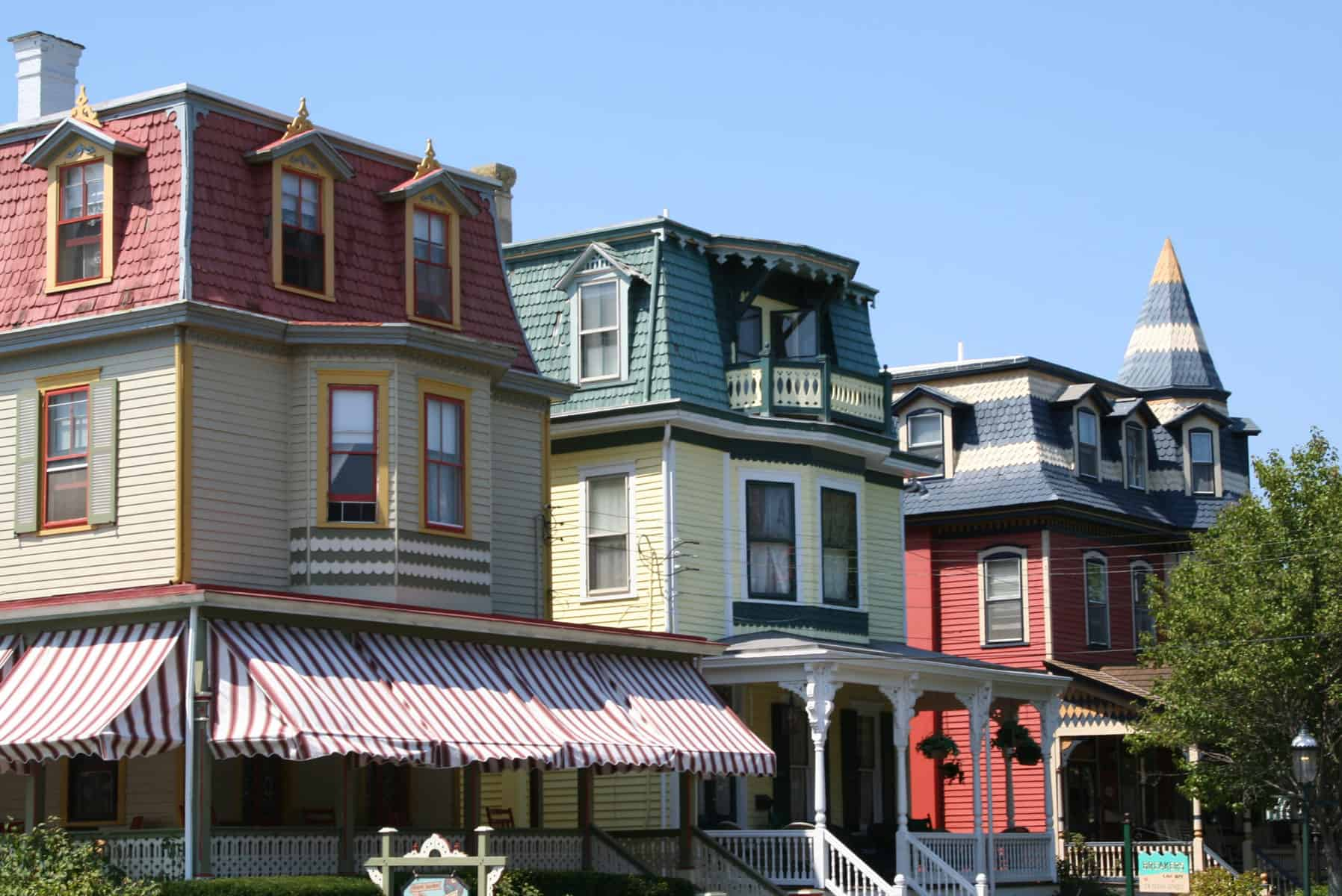 victorian buildings in Cape May