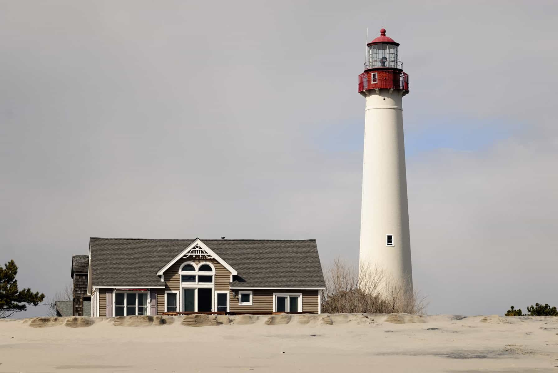 Cape May Lighthouse in Cape May New Jersey