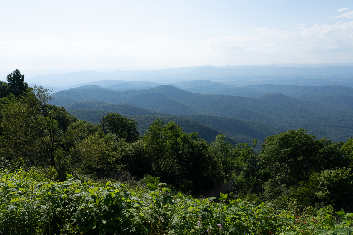 the mountains as seen from the Blue Ridge Parkway