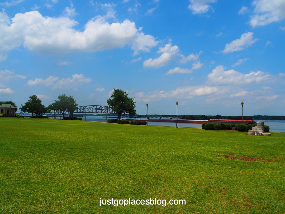 Riverfront park on the Tennessee River in Decatur Alabama